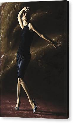 After The Dance Canvas Print by Richard Young