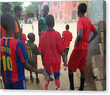 After The Game - Goree Boys Canvas Print by Eugene Simon