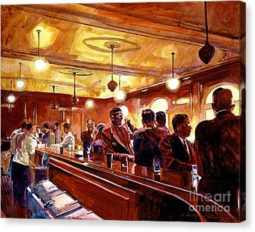 After The Market Closes Canvas Print by David Lloyd Glover