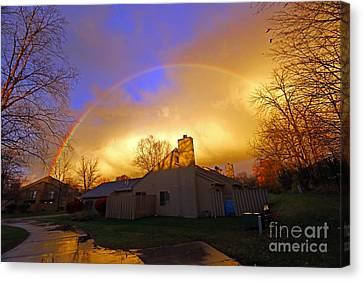Rainbow Glow Canvas Print by Steve  Gass