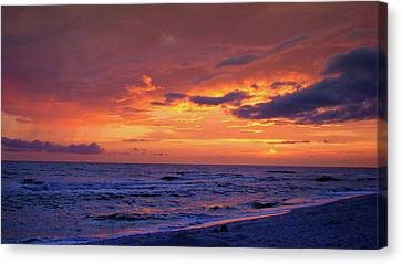 After The Sunset Canvas Print by Sandy Keeton
