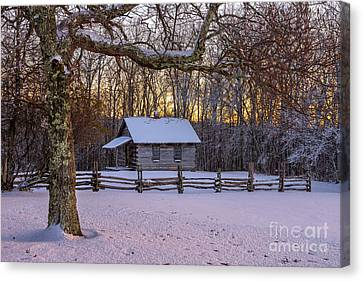 Afterglow Snow Canvas Print by Anthony Heflin