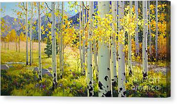 Afternoon Aspen Grove Canvas Print by Gary Kim