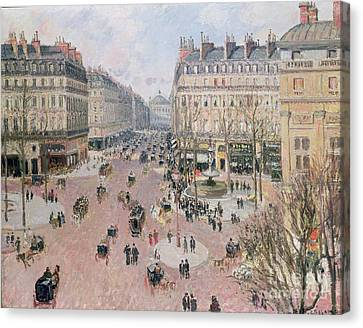 Afternoon Sun In Winter Canvas Print by Camille Pissarro