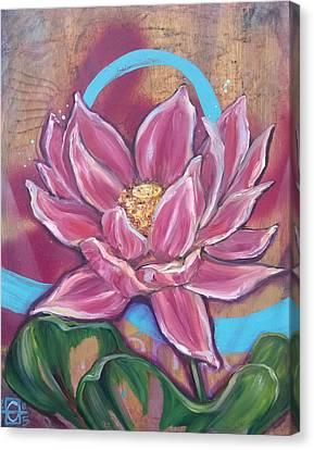 Agape Lotus Canvas Print by Andrea LaHue