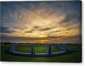 Aggie Bonfire Memorial Canvas Print by Joan Carroll