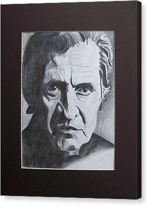 Aging Johnny Cash Canvas Print by Mikayla Ziegler