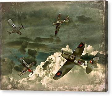 Air Attack Canvas Print by Steven Agius