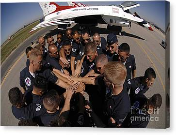 Air Force Thunderbird Maintainers Bring Canvas Print by Stocktrek Images