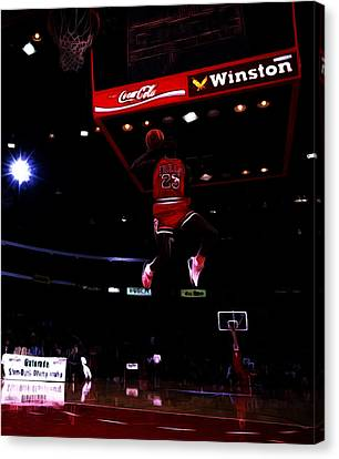 Air Jordan 1988 Slam Dunk Contest Canvas Print by Brian Reaves