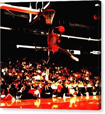 Air Jordan 1988 Slam Dunk Contest 8c Canvas Print by Brian Reaves