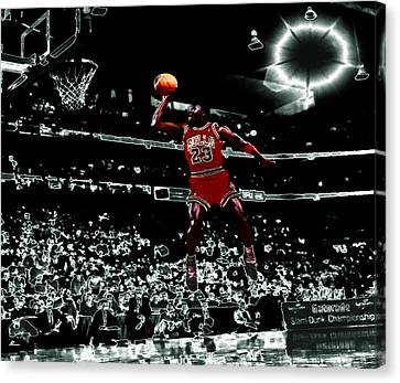 Air Jordan 4e Canvas Print by Brian Reaves