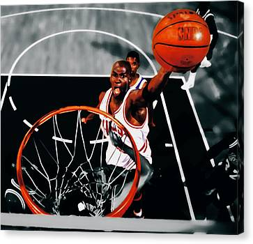 Air Jordan Above The Rim Canvas Print by Brian Reaves