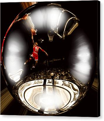 Air Jordan Bubble Canvas Print by Brian Reaves