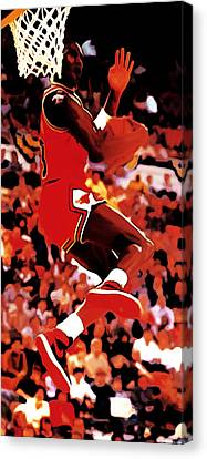 Air Jordan Cradle Dunk Canvas Print by Brian Reaves