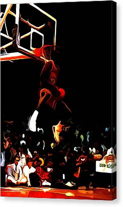 Air Jordan In Flight 04c Canvas Print by Brian Reaves