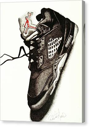 Air Jordan Canvas Print by Robert Morin