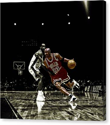 Air Jordan Shake Canvas Print by Brian Reaves