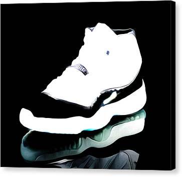 Air Jordans S3 Canvas Print by Brian Reaves