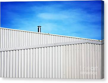 Air Pipe On Steel Building Canvas Print by Jan Brons