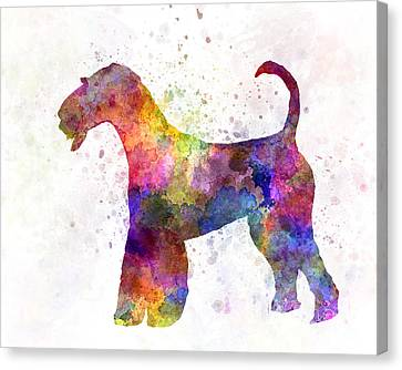Airedale Terrier 01 In Watercolor Canvas Print by Pablo Romero