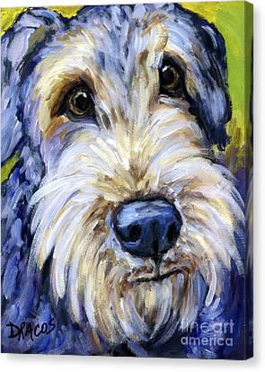 Airedale Terrier Cutie Portrait Canvas Print by Dottie Dracos