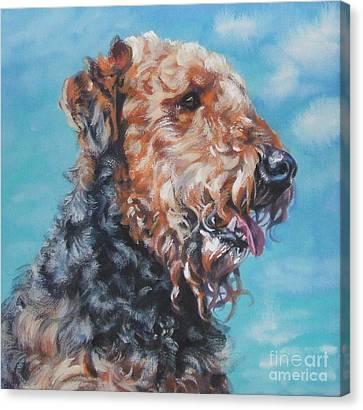 Airedale Terrier Canvas Print by Lee Ann Shepard