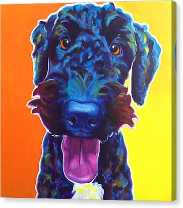 Airedoodle - Fletcher Canvas Print by Alicia VanNoy Call