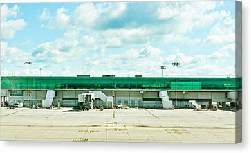 Airport Terminal Canvas Print by Tom Gowanlock