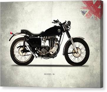 Ajs Model 16 Trials Canvas Print by Mark Rogan