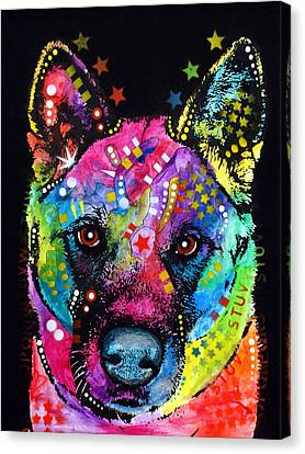 Akita 1 Canvas Print by Dean Russo