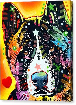 Akita 2 Canvas Print by Dean Russo