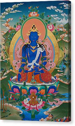 Akshobya The Immovable Buddha Canvas Print by Binod Art School