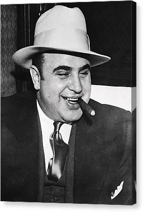 Al Capone Chicago Prohibition Crime Boss Canvas Print by Daniel Hagerman
