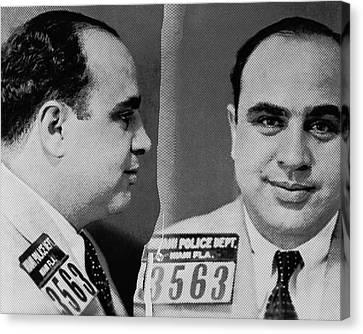 Al Capone Mug Shot 1931 Horizontal 8x10 Canvas Print by Tony Rubino