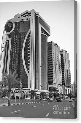 Al Durrah Tower - Sharjah Canvas Print by Hussein Kefel