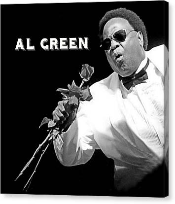 Al Green Canvas Print by Pd