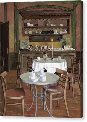 Al Lume Di Candela Canvas Print by Guido Borelli