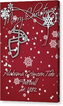 Alabama Crimson Tide Christmas Card 2 Canvas Print by Joe Hamilton
