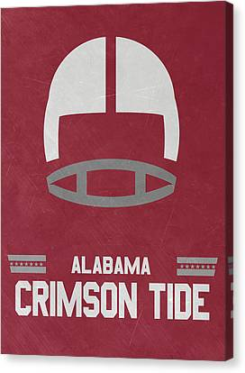 Alabama Crimson Tide Vintage Football Art Canvas Print by Joe Hamilton