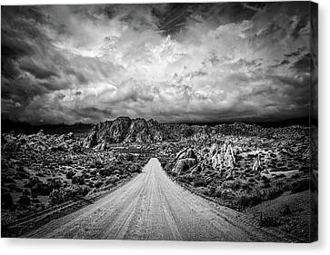 Alabama Hills California Canvas Print by Peter Tellone