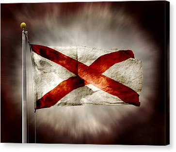 Alabama State Flag Canvas Print by Steven  Michael