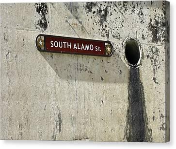 Alamo Riverwalk Sign Large Edition Canvas Print by Tony Grider