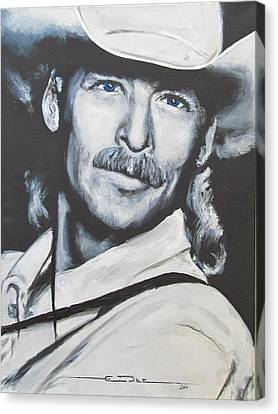 Alan Jackson - In The Real World Canvas Print by Eric Dee