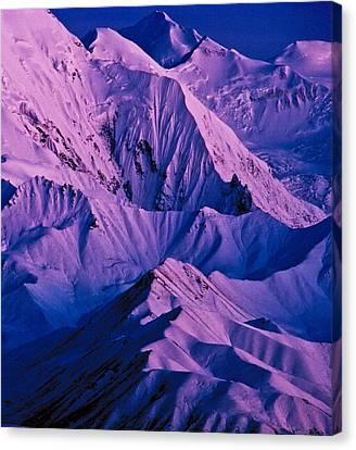 Alaska Range Twilight Canvas Print by Tim Rayburn