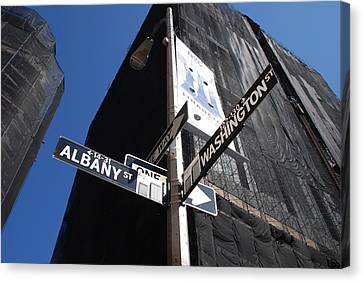 Albany And Washington Canvas Print by Rob Hans