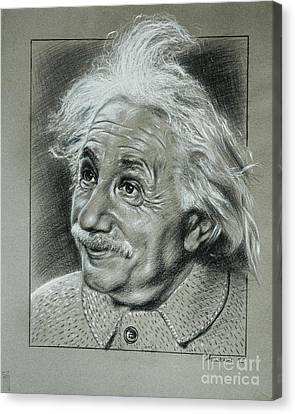 Albert Einstein Canvas Print by Anastasis  Anastasi