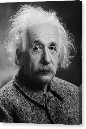 Albert Einstein Portrait Canvas Print by War Is Hell Store