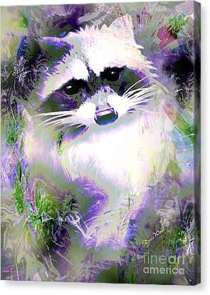 Albino Raccoon Canvas Print by Doris Wood