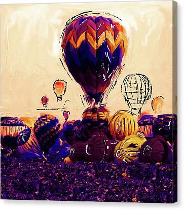 Albuquerque International Balloon Fiesta 252 2 Canvas Print by Mawra Tahreem